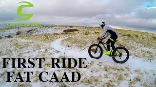 Fresh Snow & First Ride - Cannondale FAT CAAD