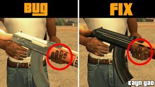 | Esté MOD corrige la forma en la que CJ agarra las armas | Original Weapon Fix Android |