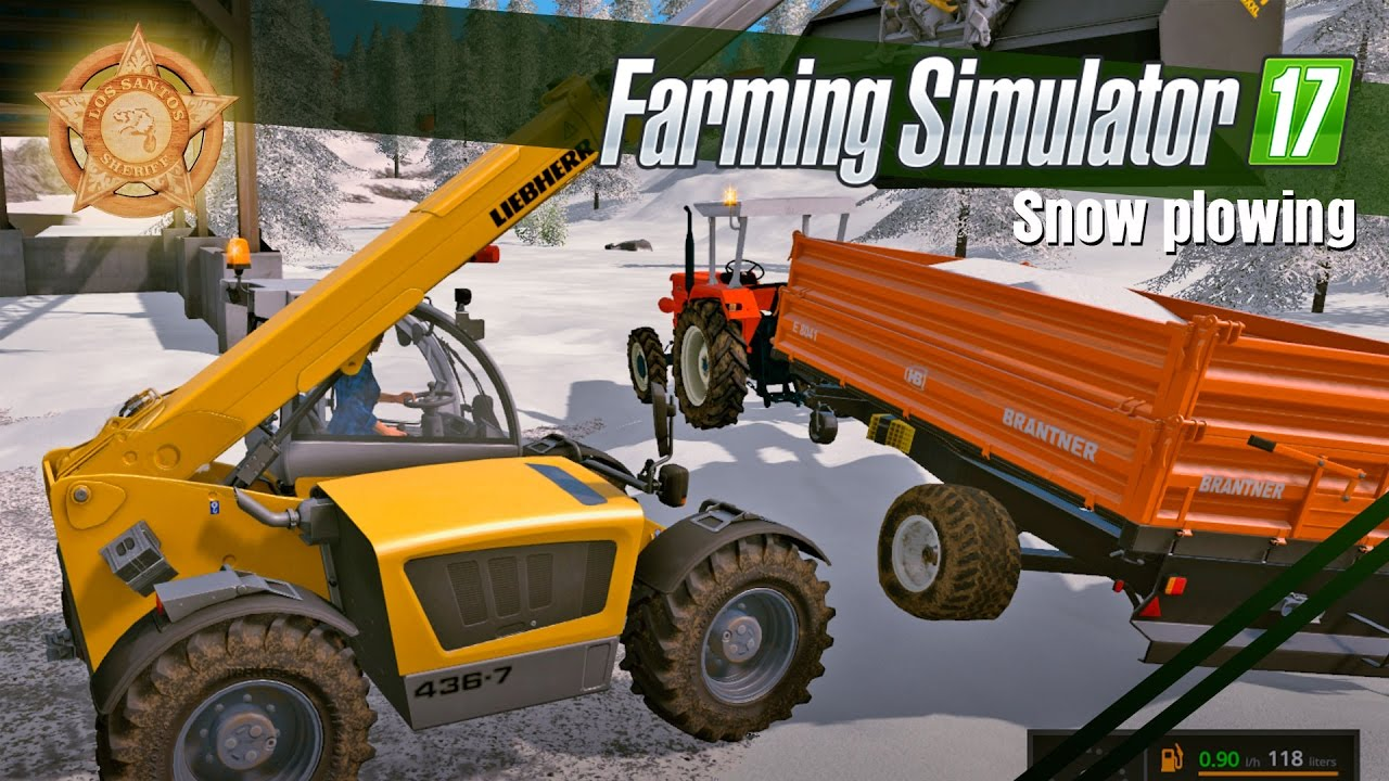 farming simulator 17 gameplay winter mod snow plowing. Black Bedroom Furniture Sets. Home Design Ideas