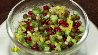 """Kondakadalai Cheese Salad & Dal Kheer"" Arusuvai Neram – Jaya TV cookery program"