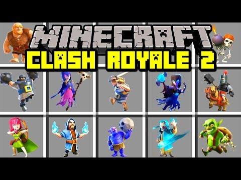Minecraft CLASH ROYALE 2 MOD! | SUMMON NEW LEGENDARY CARDS! | Modded Mini-Game