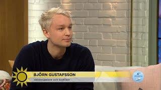 """Björn Gustafsson: """"Jag sa ju att jag inte vill prata om det där!"""" - Nyhetsmorgon (TV4)"""