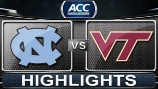 2013 ACC Football Highlights | North Carolina vs Virginia Tech | ACCDigitalNetwork