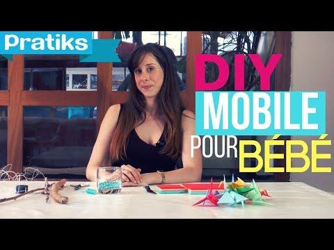 Comment faire un mobile pour bébé en origami ?