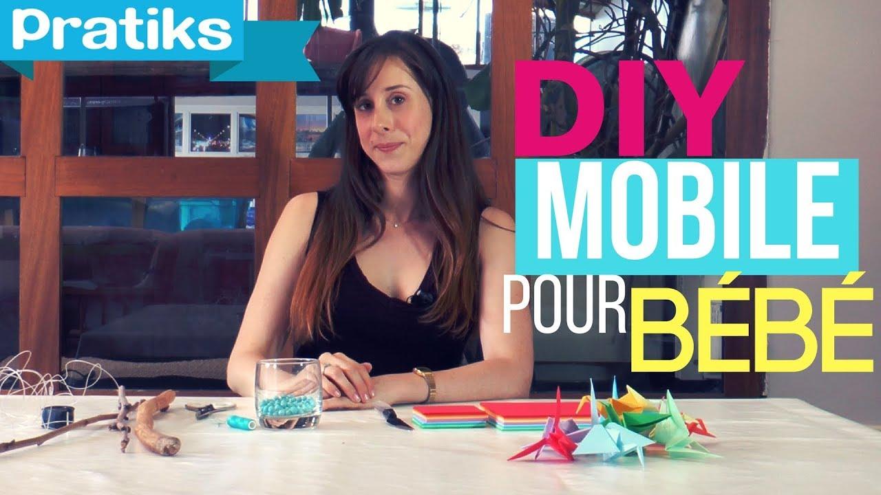 comment faire un mobile pour bb en origami - Fabriquer Mobile Bebe Origami