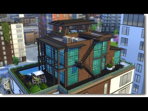 INDUSTRIAL PENTHOUSE | The Sims 4 Speed Build