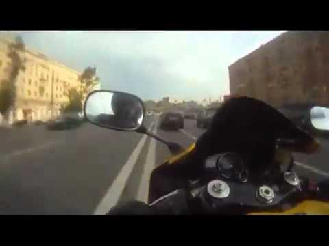 YouTube   Motor lạng lách trên đường phố Nga