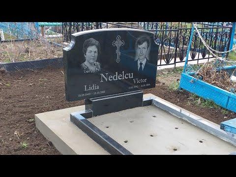 Двойной горизонтальный памятник на могилу кладбище София Дрокия. Sofiya Drochia