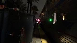 Amtrak #4 Southwest Chief departing Fullerton station with marti ann 2019-01-05