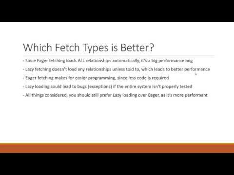 Hibernate Lazy Fetch vs Eager Fetch Type