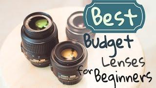 TOP 3 BEST Budget Lenses for Beginners