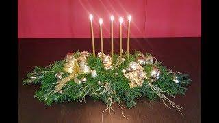 Jak zrobić stroik świąteczny ? TRADYCYJNY STROIK WIGILIJNY... :)