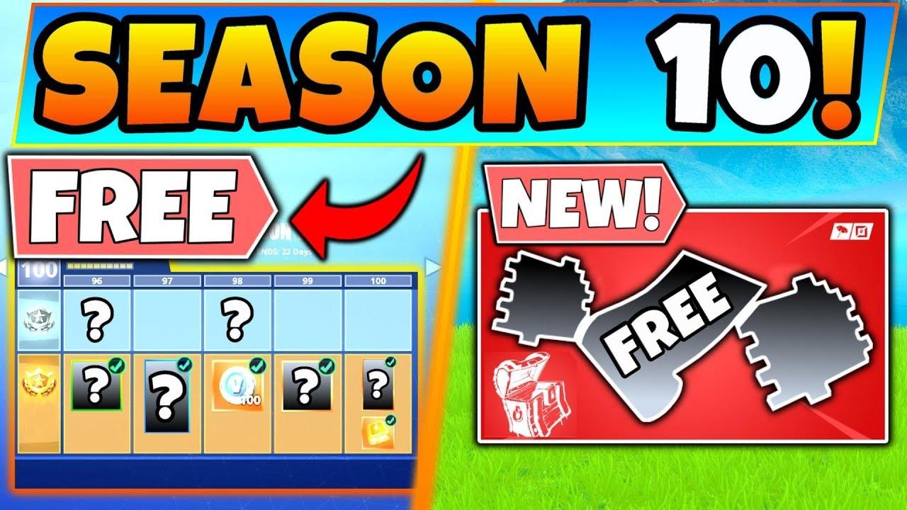 New Free Season 10 Battle Pass Drops Fortnite Season 9 Update