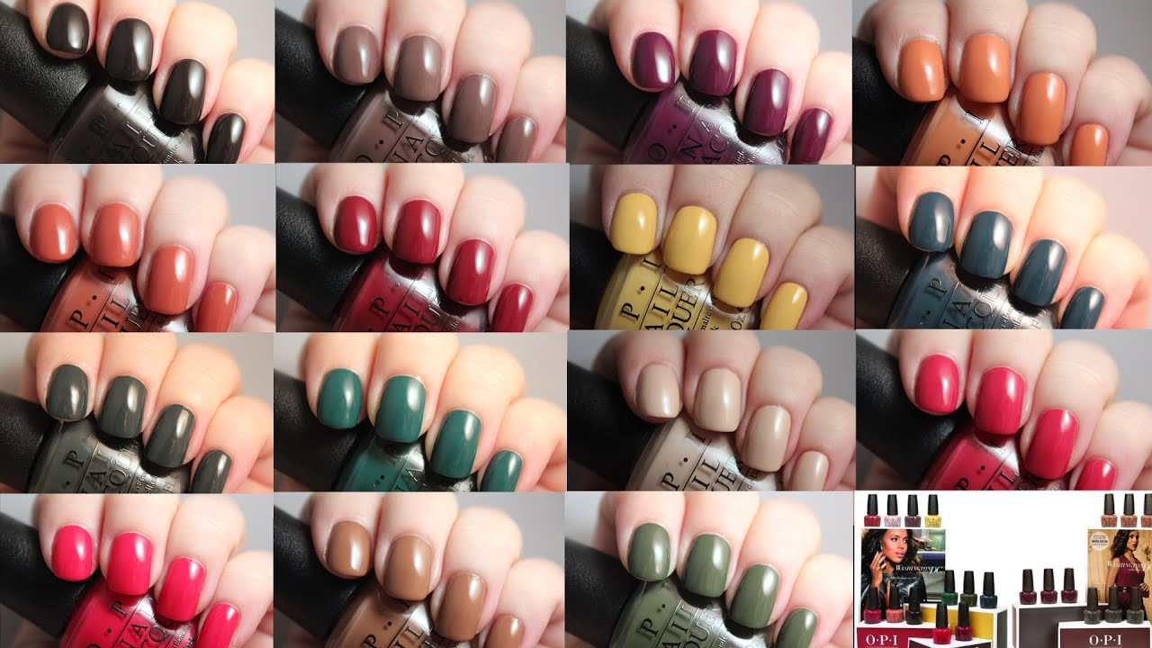 OPI Washington DC Collection | Live Application Review - YouTube