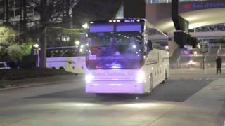 Carolina Panthers Leave Stadium For Flight To Seattle