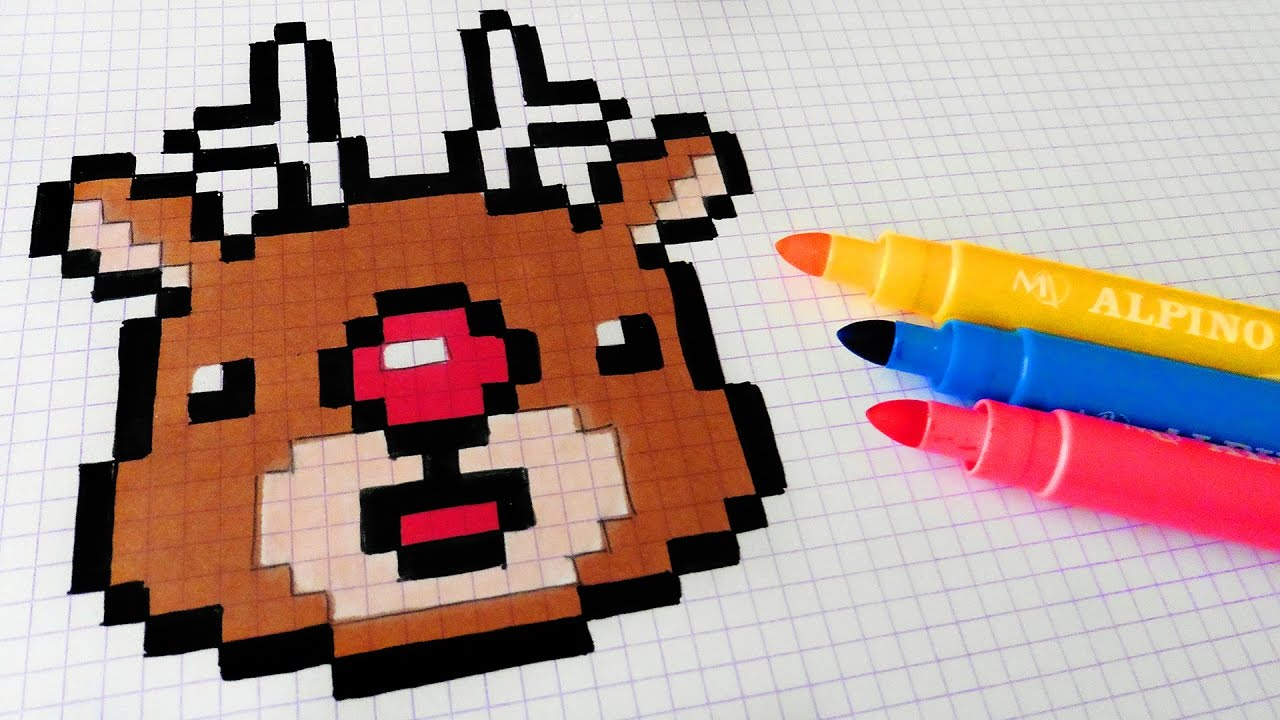 Handmade Pixel Art How To Draw Kawaii Rudolph Pixelart