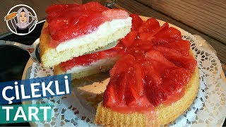 Çilekli Tart Kek Tarifi | En lezzetli tart nasıl yapılır? | Hatice Mazı ile Yemek Tarifleri