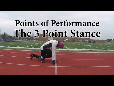 40 Yard Dash Technique | 3 Point Stance