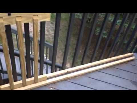 Easy Sliding Gate For Your Deck Youtube