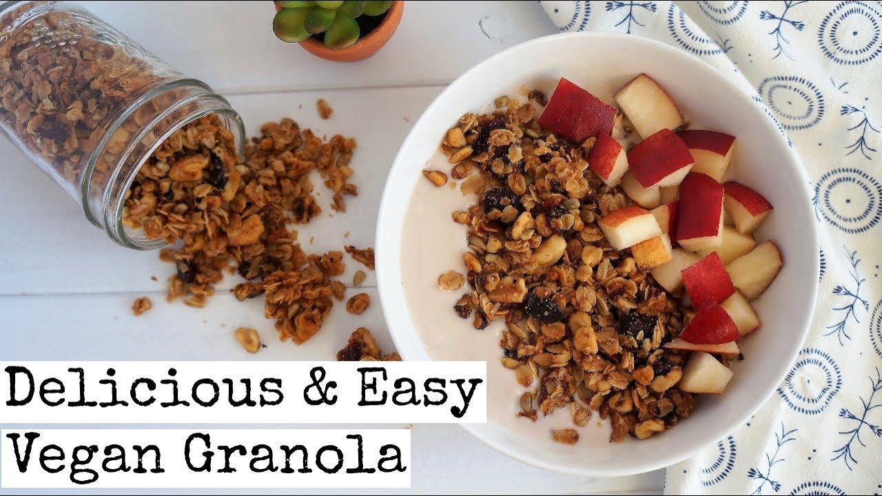 How to make easy vegan granola youtube how to make easy vegan granola ccuart Image collections