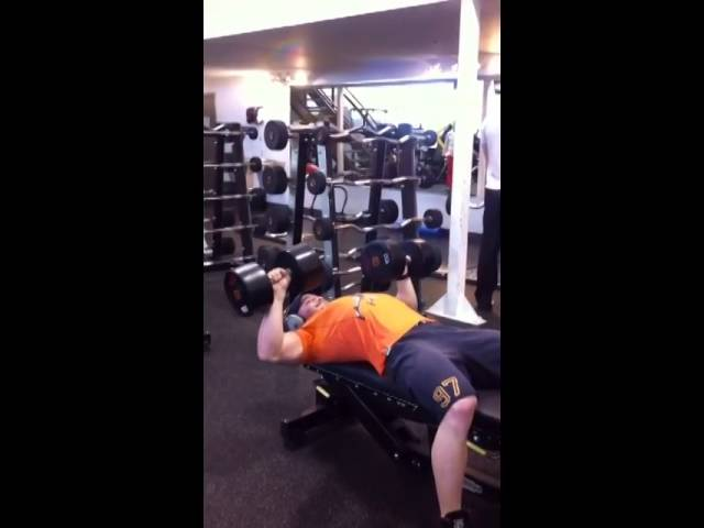 100 lbs Dumbbell Press