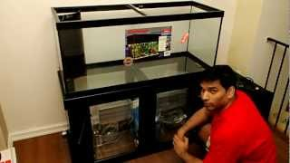 75 Gallon Corner-flo Pre-drilled Glass Aquarium, Stand And Model 3 Sump
