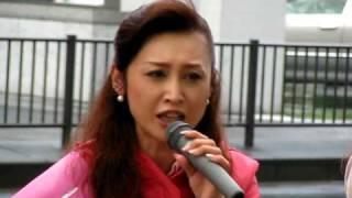 三原じゅん子さんが女優から政治家へ転身。この日は高田馬場から池袋へ...