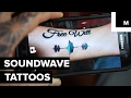 Soundwave tattoos let you immortalize your loved one's voice