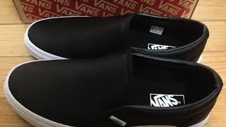 バンズ クラシック スリッポン/パーフレザー VANS Classic Slip-On/Perf Leather