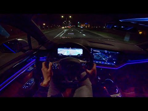 2019 VW Touareg R Line AMBIENT LIGHTING Night Drive POV By AutoTopNL