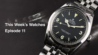 This Week's Watches #11 - Cartier Tank 'Jumbo', Rolex Explorer 1016, Rolex Day-Date 1807 And More...