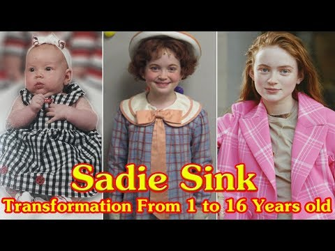 Sadie Sink transformation from 1 to 16 years old