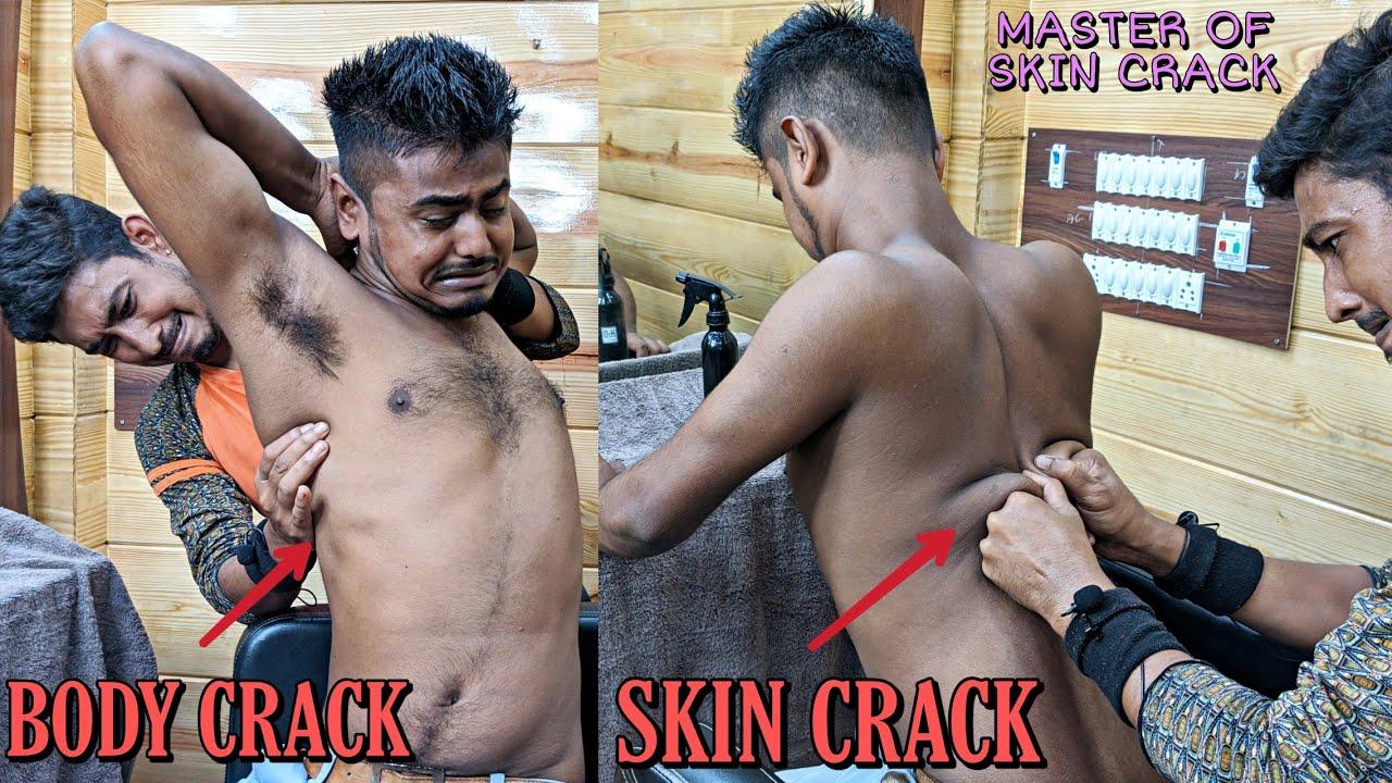 Amazing Body cracking By the Master of skin cracking / Head massage   Neck crack   ASMR