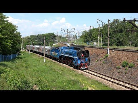 [Ultra HD] Паровоз П36-0218 с экскурсионным поездом 22.05.2016 г.