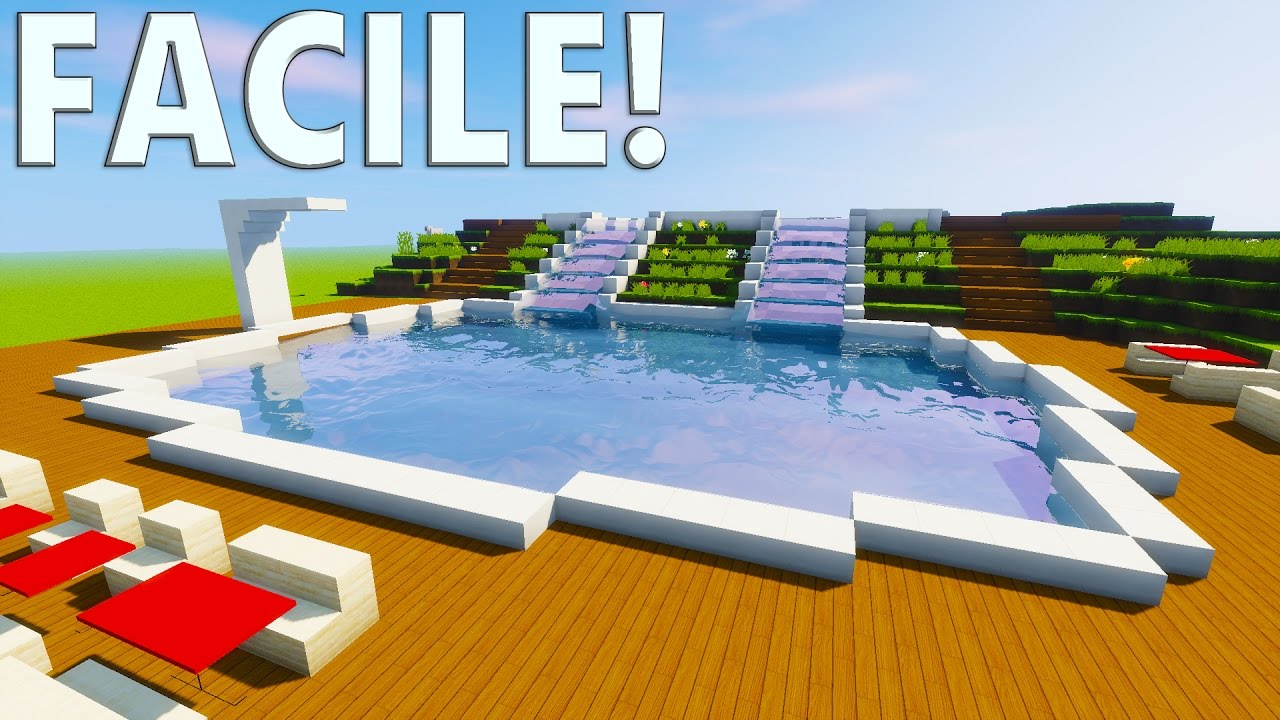 tuto piscine moderne minecraft youtube