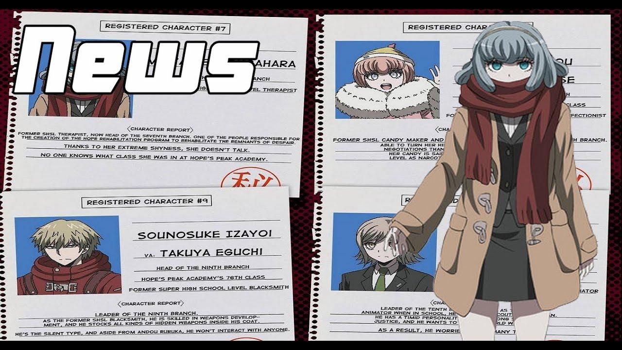 DRnews DanganRonpa 3 Future Volume Character Bios And Talents
