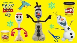 How To Make Frozen 2 Olaf Forky Toy Story 4 Easy Tutorial! DIY OLAF Craft Forky Disney Frozen 2
