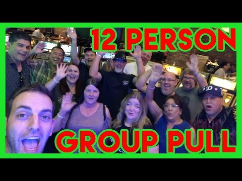 🙏12 Person GROUP SLOT PULL in Laughlin NV ✦ Slot Machine Pokies w Brian Christopher