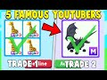 I Traded 5 FAMOUS Adopt Me YOUTUBERS! (MEGA PETS ONLY)