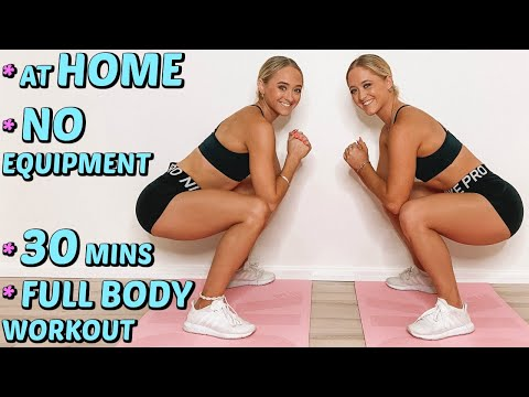30 MIN FULL BODY HOME WORKOUT | No Equipment ~ Timer + Music