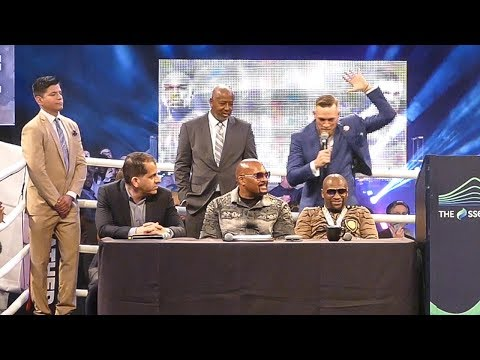 Conor McGregor SLAPS Floyd Mayweather HEAD At London World Tour Press Conference