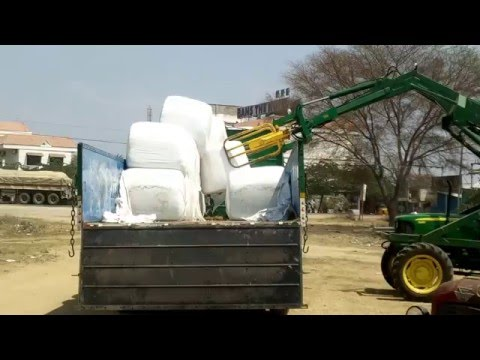 Silage bale distribution in Chittoor, India.