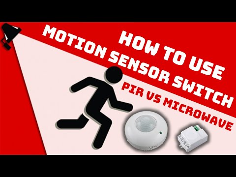 How To Use Motion Sensor Light Switch For Home Automation | PIR Vs Microwave