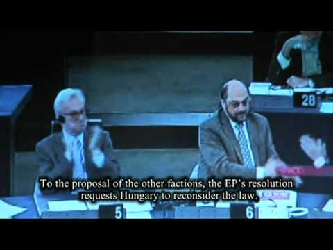 Debate about the Hungarian media law at the European Parliament thumbnail