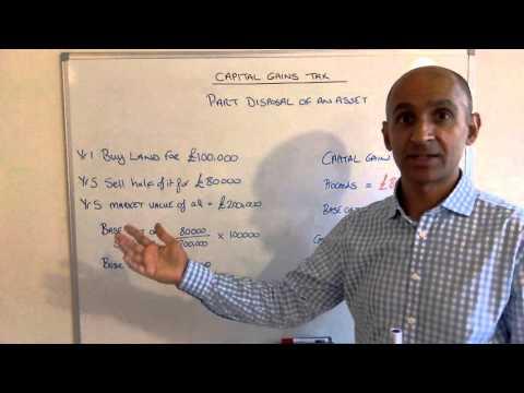 Capital Gain Tax Part Disposal
