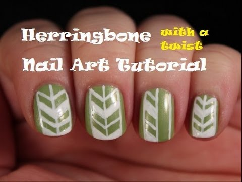 Herringbone With A Twist Nail Art Tutorial Youtube