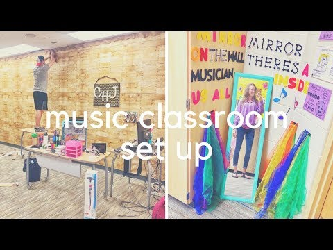 MUSIC CLASSROOM SET UP // day three + four