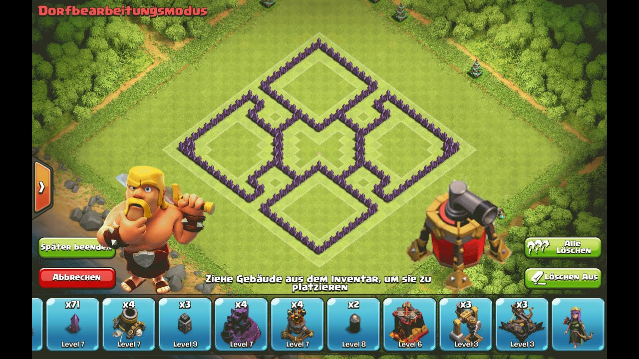 Clash of Clans - Epic TH7 Hybrid Base --Air Sweeper ...