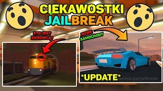 Ciekawostki w JailBreak! *Nowe samochody!* Roblox PL