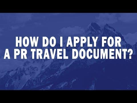 How do I apply for a PR travel document?